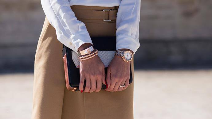 <strong>A classic watch</strong> <br>Screams 'polished', no matter how polished you actually feel. Fashion fact: it's impossible not to feel great when you're wearing a really great watch.