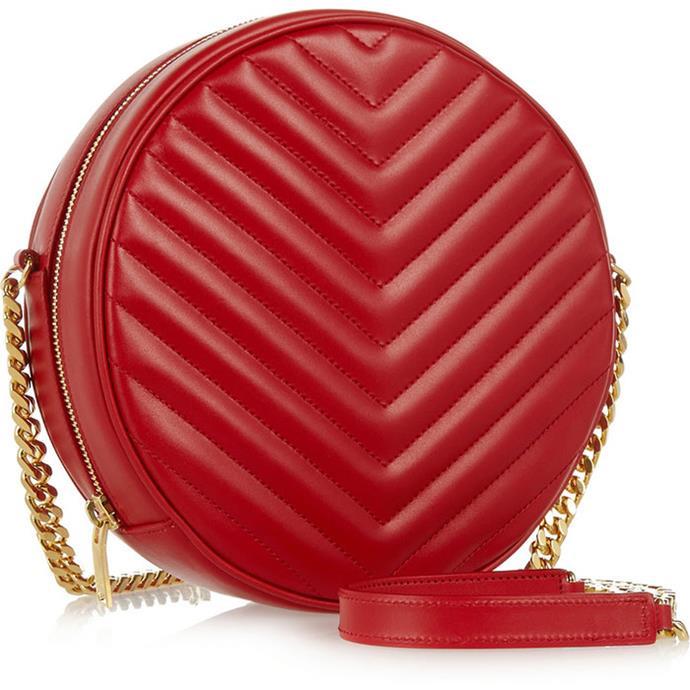"<a href=""http://www.net-a-porter.com/product/458033/Saint_Laurent/bubble-large-quilted-leather-shoulder-bag"">Saint Laurent Bubble quilted shoulder bag</a>, $2,575"
