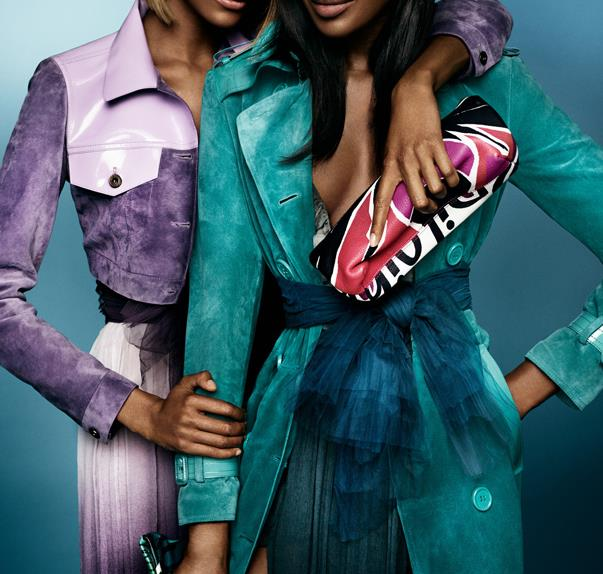 Naomi Campbell And Jourdan Dunn In Burberry Campaign