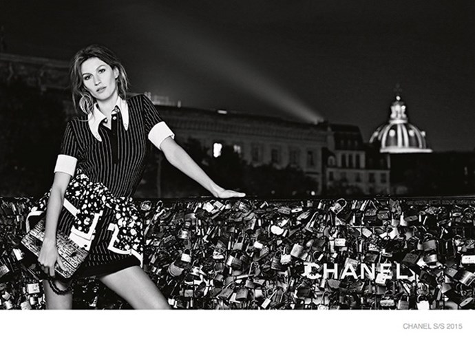Gisele Bundchen photographed by Karl Lagerfeld for Chanel spring/summer 2015.