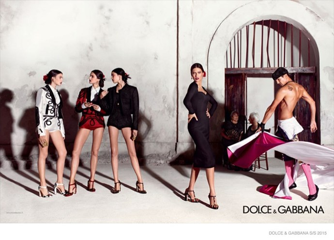 Bianca Balti leads the typically Sicilian-inspired Dolce & Gabbana campaign, photographed by one half of the design duo, Domenico Dolce.
