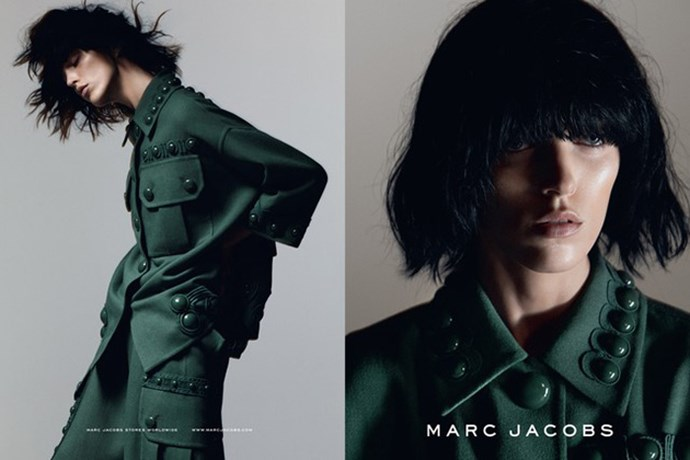 Marc Jacobs carried his beauty look of black bobs and no-makeup looks from his spring/summer 2015 show into his new campaign, fronted by Anja Rubik and photographed by David Sims. <br><br>Images of Kendall Jenner, Karlie Kloss, Joan Smalls, Natasha Poly, Jessica Stam, Aya Jones, Adriana Lima and Anna Ewers are also reportedly set to land.