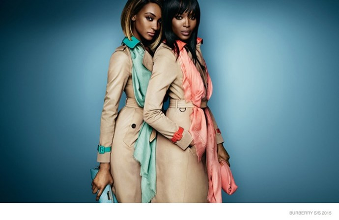 "Cross-generational British supermodels Naomi Campbell and Jourdan Dunn front Burberry's bold new campaign, captured by Mario Testino. Check out the video <a href=""http://www.harpersbazaar.com.au/news/fashion-buzz/2014/12/naomi-campbell-and-jourdan-dunn-star-in-burberrys-new-campaign/"">here</a>."