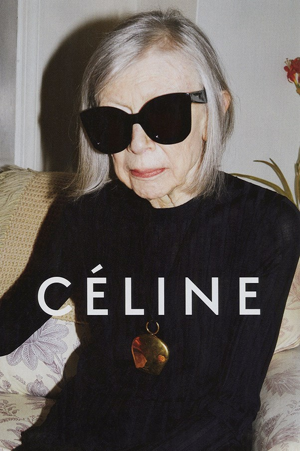Has there ever been a pairing more perfect than Joan Didion and Céline? The iconic author, journalist and all-around intellectual dream girl fronts the French label's latest campaign, photographed by Juergen Teller.<br><br> And considering creative director Phoebe Philo's own well-honed and universally adored aesthetic that she's sculpted for the brand – reserved and sensual in equal measures, and above all, achingly, implacably cool – who better to take over from cool-girl Daria Werbowy than the literary and style icon whose own sensibilities encompass Céline's so completely? <br><br><em>Click through for more campaign news.</em>