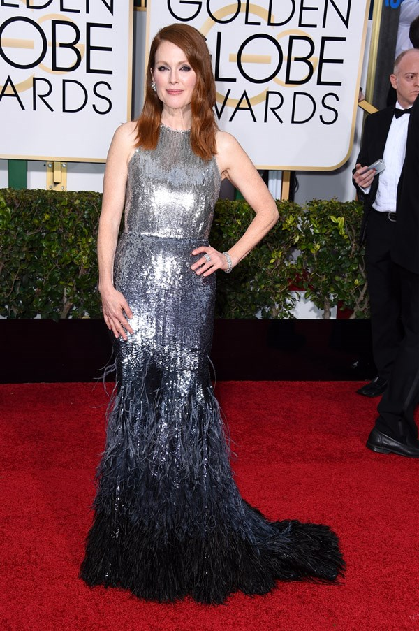 """<strong>Julianne Moore in Givenchy Couture</strong> <br><br>""""On point."""" <br>– Caroline Tran, Fashion Assistant"""