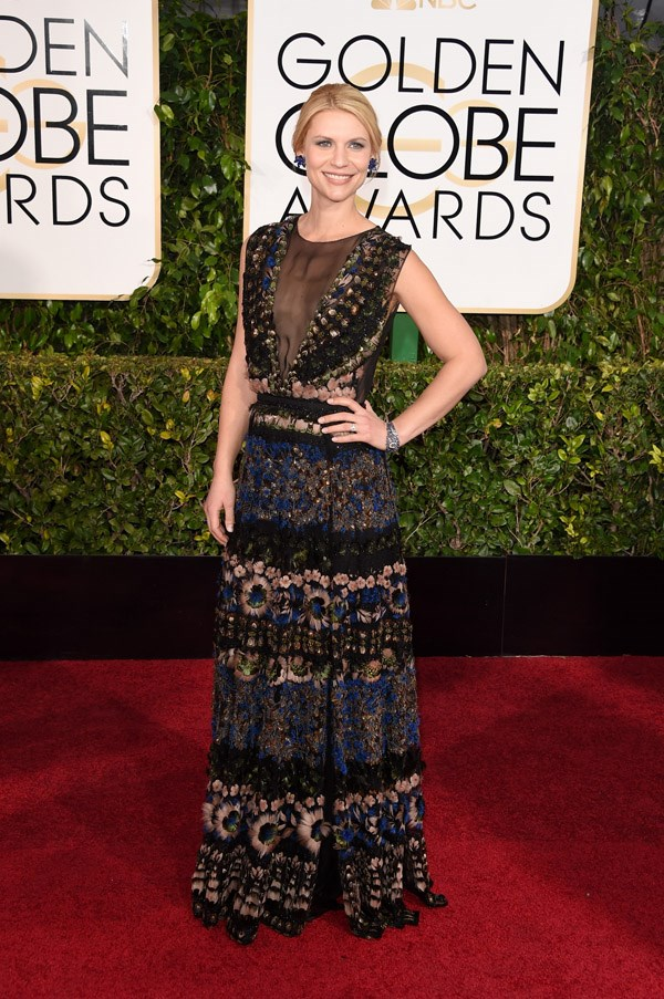 """<strong>Claire Danes in Valentino</strong> <br><Br>""""Prints are an endangered species on red carpets these days, so points to Claire on bravery. This dress is magic, and she is owning it.""""<br> – Anna Lavdaras, Beauty Assistant"""