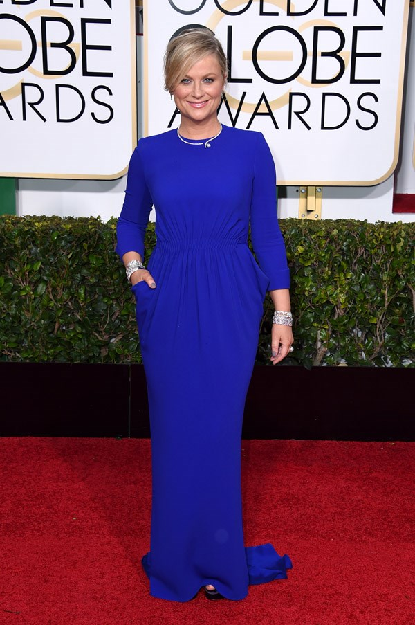 """<strong>Amy Poehler in Stella McCartney</strong> <br><br>""""Could have done without that necklace."""" <br>- Karla Clarke, Junior Fashion Editor"""