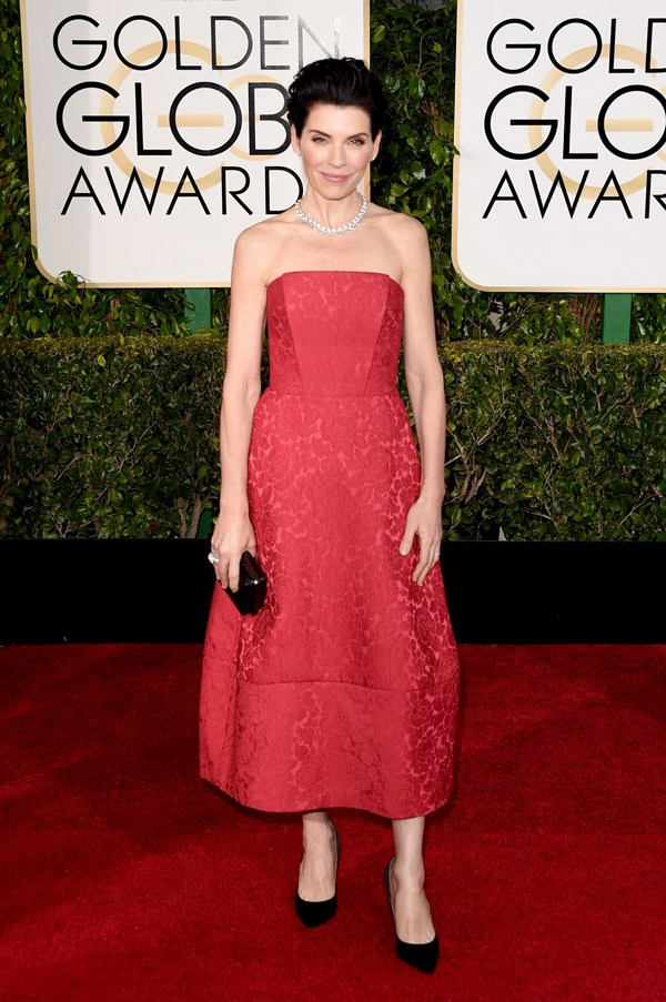 """<strong>Julianna Margulies In Ulyana Sergeenko</strong> <br><br>""""Awkward everything."""" <br>- Tracey Withers, Acting Beauty Editor"""