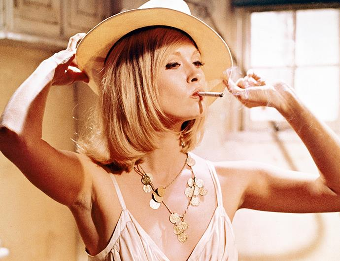 Actress Faye Dunaway in Bonnie and Clyde