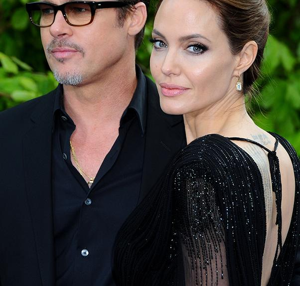 Brad and Angelina wear black on the red carpet