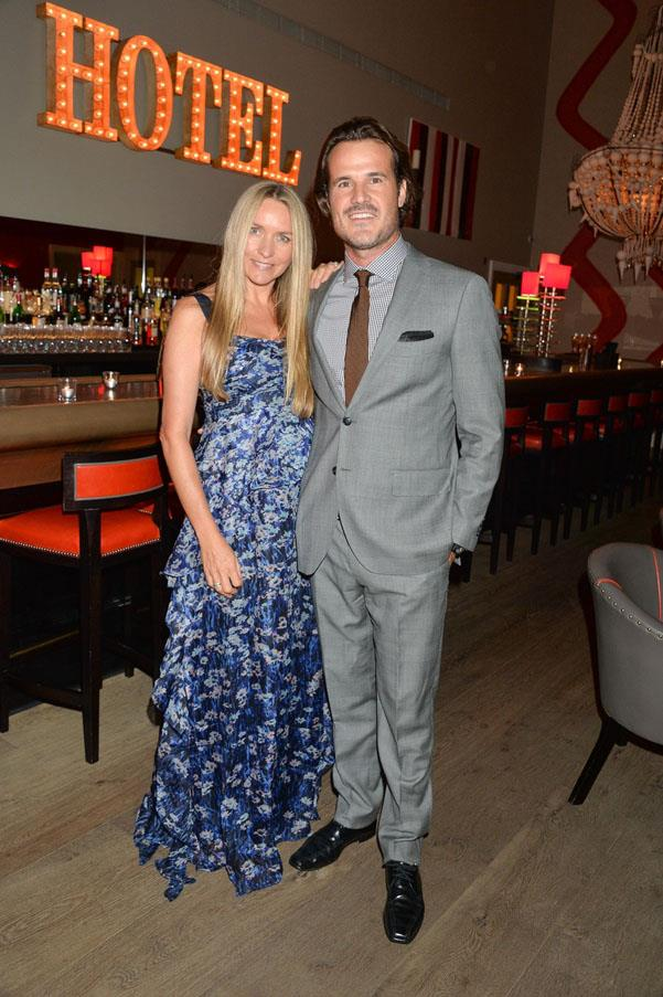 Collette Dinnigan with husband Bradley Cocks