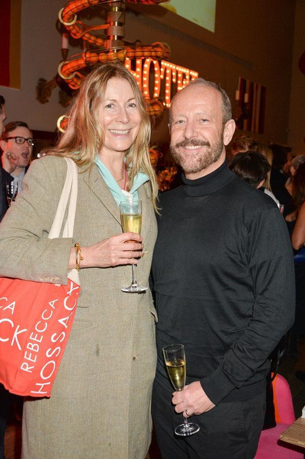 Rebecca Hossack and Tony Bannister