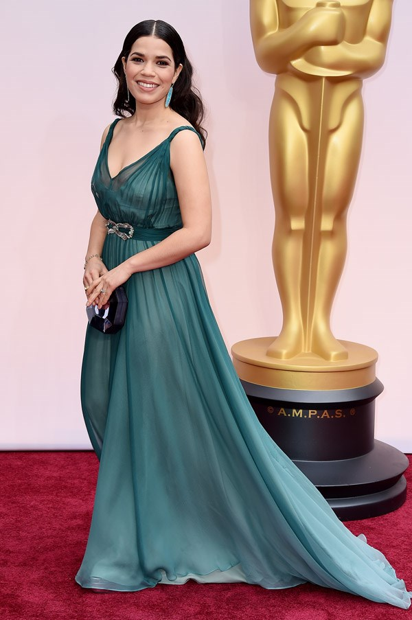 Grecian dresses have been big on the red carpet this round of Oscars – and America Ferrera's elegant Jenny Packham gown was a particularly beautiful example.
