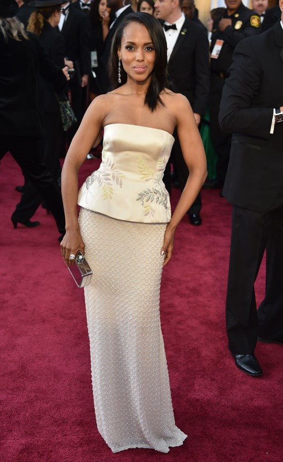Kerry Washington wears Miu Miu with aplomb.