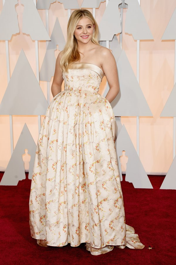 Chloe Moretz is sweet as a daisy in custom Miu Miu. A style icon in the making.