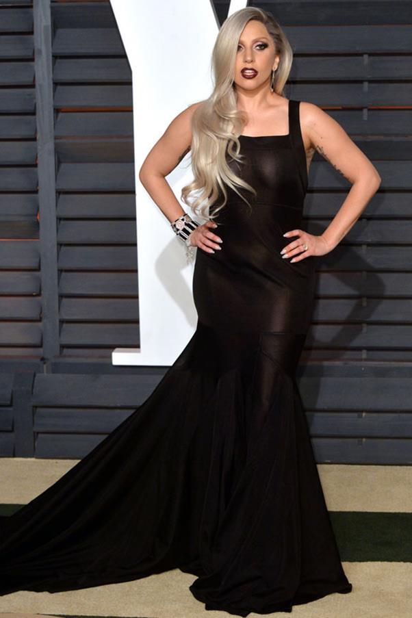 Lady Gaga in custom Azzedine Alaia.