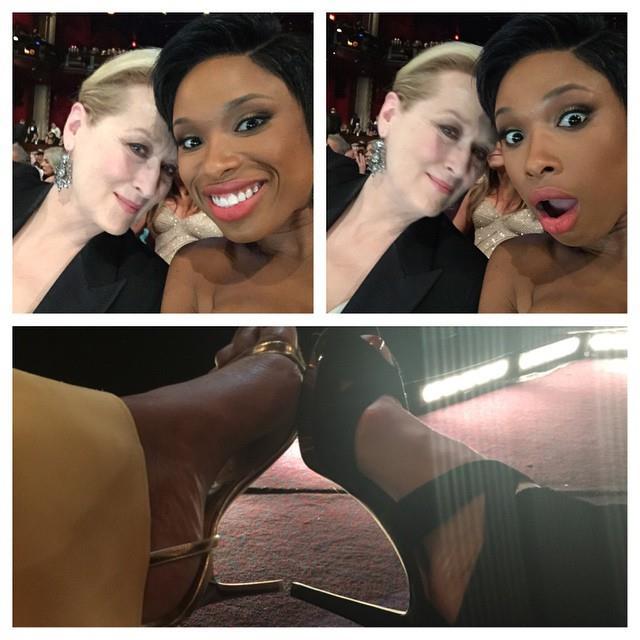 2. When Meryl Streep and Jennifer Hudson compared high heels. <br><br><em>Photo: Instagram/@iamjhud</em>