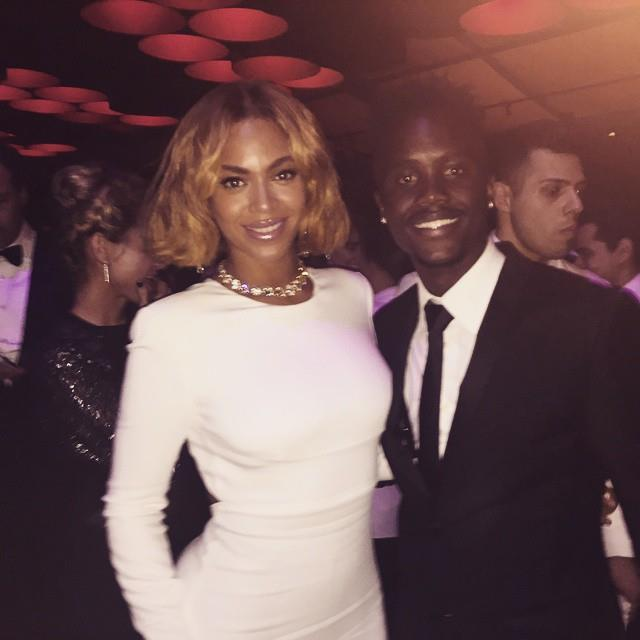 5. When Lupita Nyong'o's brother (remember him from that Oscar selfie last year?) met Beyoncé, because his sister is totally awesome. <br><br><em>Photo: Instagram/@lupitanyongo</em>
