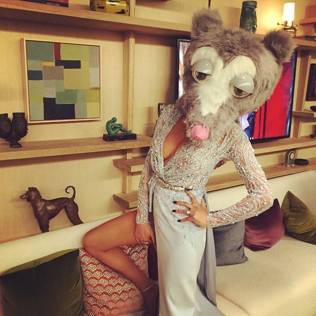 10. When Chrissy Teigen put on a mascot head because she can. <br><br><em>Photo: Instagram/@chrissyteigen</em>