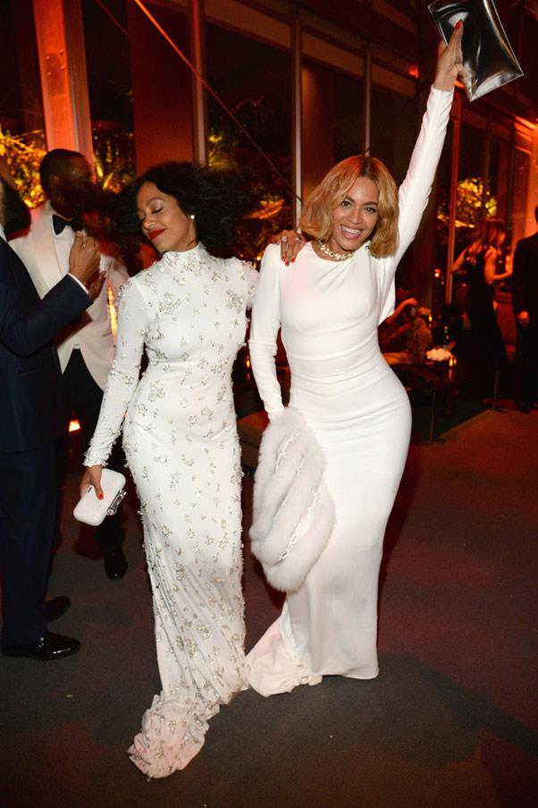 6. When Beyoncé and Solange took the time for some sisterly bonding.