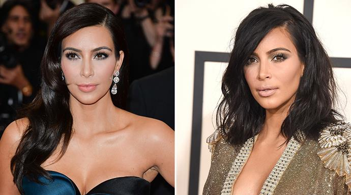 <strong>Kim Kardashian</strong> <br>Mrs West ditched her lengthy extensions at long last, opting for a choppy, on-trend 'do.