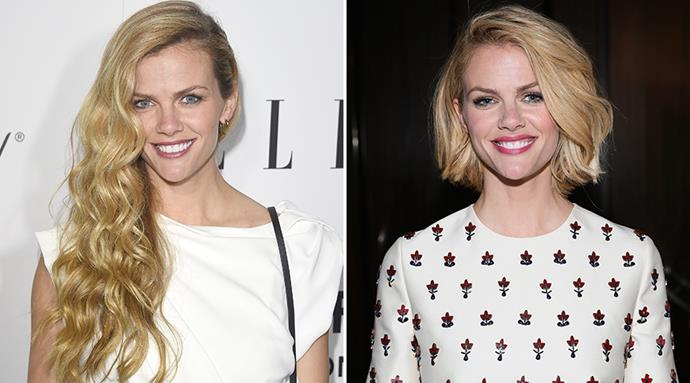 <strong>Brooklyn Decker</strong> <br>The model ditched her girl next door tresses to allow her bone structure to do the talking.