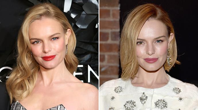 <strong>Kate Bosworth</strong> <br>The ethereal beauty lost a few inches off her mane for her new film <em> 90 Minutes in Heaven</em>. Whether it was for character purposes or not, we're thrilled Kate made the chop.