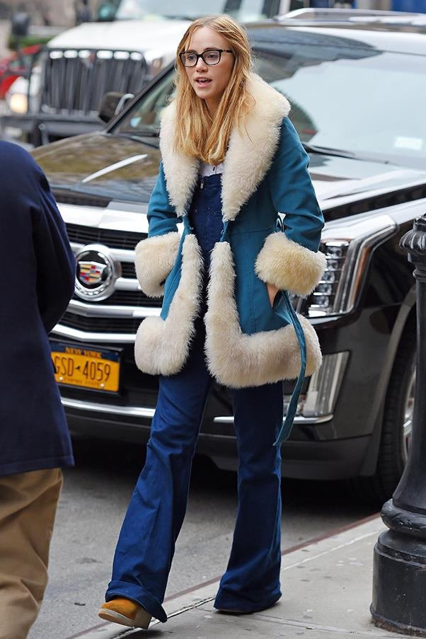 Overalls, flares, platform boots, a killer coat ... there's no such thing as too much in '70s style, as proved by Suki Waterhouse.