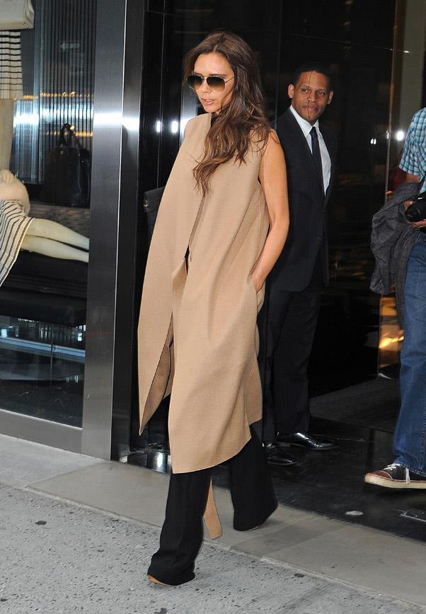 Victoria Beckham's mesmerisingly chic vest coat epitomises '70s luxe.