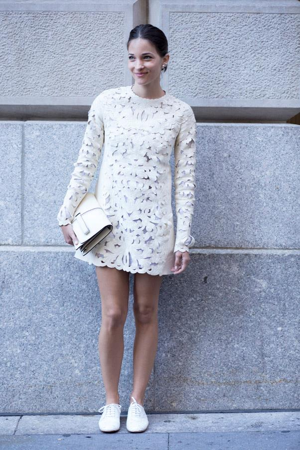 When in doubt, go monochrome - this all-white look is fresh and flirty.
