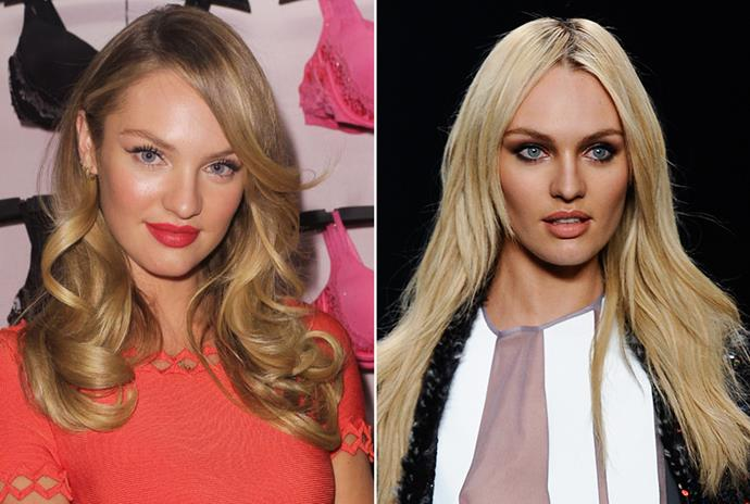 <strong>Candice Swanepoel </strong> <br>Victoria's Secret beauty Candice Swanepoel dared to veer from her sun kissed supermodel look with this bold, silvery change.