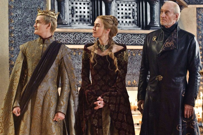 <strong>SEASON 3</strong> <br><br>Joffrey, Cersei, and Twyin Lannister <br><br>Photo credit: HBO