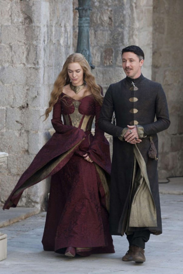 <strong>SEASON 3</strong> <br><br>Cersei Lannister and Petyr Baelish <br><br>Photo credit: HBO