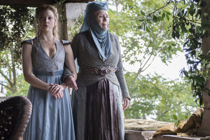 <strong>SEASON 4</strong> <br><br>Margaery and Olenna Tyrell <br><br>Photo credit: HBO