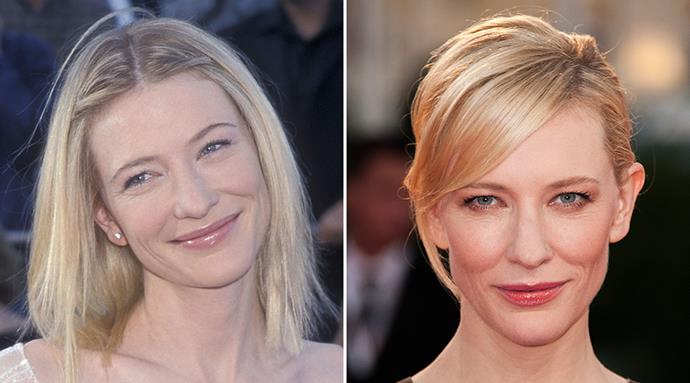 "<strong>Cate Blanchett</strong> <br><br>We're almost certain that whomever came up with the term ""ageing gracefully"" had<em> BAZAAR</em>'s May cover star in mind. <br><br>The porcelain-skinned beauty boasts a radiant, wrinkle-free complexion that is just as flawless after almost two decades as a household name."