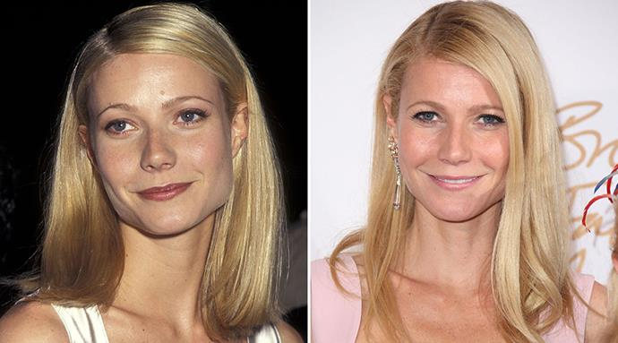 "<strong>Gwyneth Paltrow</strong> <br><br>She's the first to admit that looking this good at 42 takes work, but Paltrow draws the line at injections, opting for a more natural approach. <br><br>""Taking an inside-out approach to beauty has always been my philosophy — that and sleep, good nutrition, and a bit of exercise — especially when it comes to skin,"" she told UK's <em>Stylist Magazine</em> last year."