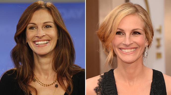 "<strong>Julia Roberts</strong> <br><br> ""'I'm 45 years old and haven't done any tinkering under the hood, which is important! I feel I'm best with a natural look,"" Julia Roberts told the <em>Daily Mail</em> last year. <br><br>Instead, America's iconic sweetheart credits her youthful complexion to an anti-ageing skincare regime and a healthy lifestyle – although that dazzling smile can't hurt, either."