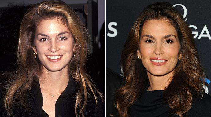 <strong>Cindy Crawford</strong> <br><br>It's pretty easy to spot someone who takes good care of their skin - an even tone, minimal sun damage and a bright, glowing complexion are all indicators of a good skin care regime and healthy lifestyle. <br><br>49-year-old Cindy Crawford is living proof of this, with the '90s icon boasting a radiant, wrinkle-free complexion that defies her age.