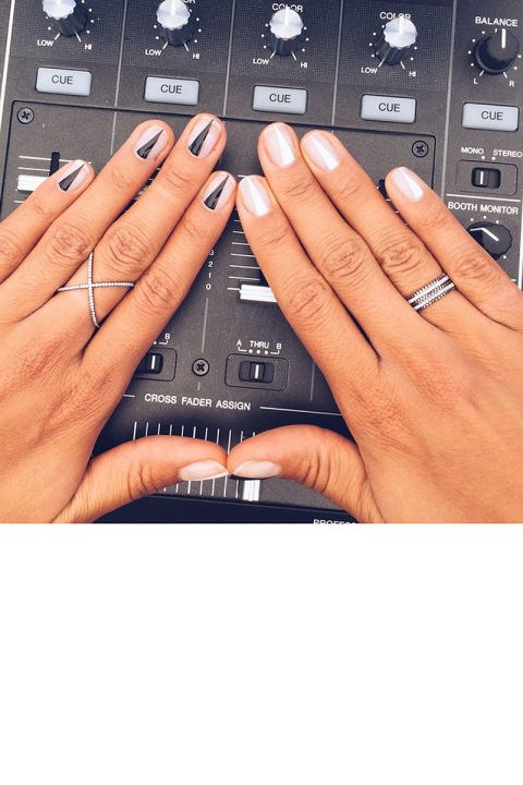 """<strong>HANNAH BRONFMAN</strong> <br>We're thinking the DJ may need to make a career switch: She posted this photo of her manicure with the caption """"#nailsbyme."""" <br><a href=""""https://instagram.com/p/1W74WGSEBC/"""">@hannahbronfman</a>"""