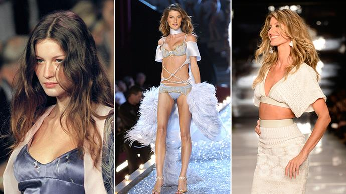 To celebrate Gisele Bundchen's 36th birthday (yes, really), we're recapping the super's most memorable runway moments.