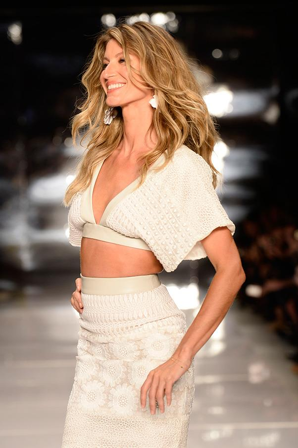 <br><strong>Colcci</strong> <br><strong><em>2013</em></strong> <br>Gisele for her most-loved brand: Colcci. The model is set to make her final runway walk ever this Friday, and has selected the Brazilian brand to be her lucky last.