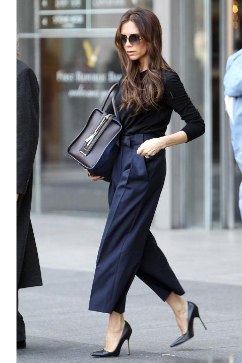 <strong> Combine Black and Navy</strong> <br>Navy was a standout hue during the Spring 2015 collections (namely at Calvin Klein and The Row), and combining the classic shade with black is both super chic and instantly flattering.