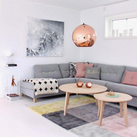 <strong>COPPER GLOBE LIGHTS</strong> <br><br>Sure, copper's caught in in America, and we're seeing it everywhere from DIY to everywhere in the kitchen. But who couldn't love the globular copper lights common in Scandinavia? They're the perfect way to showcase this season's hottest metal. <br><br>Photo credit: Julie Hole