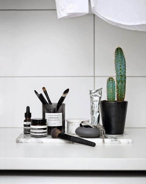 """<strong>CACTI</strong> <br><br>We've lived through the succulent phase. It's time to welcome cacti into our lives (as seen at <strong><a href=""""http://myscandinavianhome.blogspot.com.au/2015/03/pretty-greens-and-blues-in-copenhagen.html"""">Trendenser</a></strong>). You can have them little or big, but in any size, they bring a cheerful burst of green into a monochrome world. <br><br><strong>Photo credit</strong>: Sara Danielsson"""