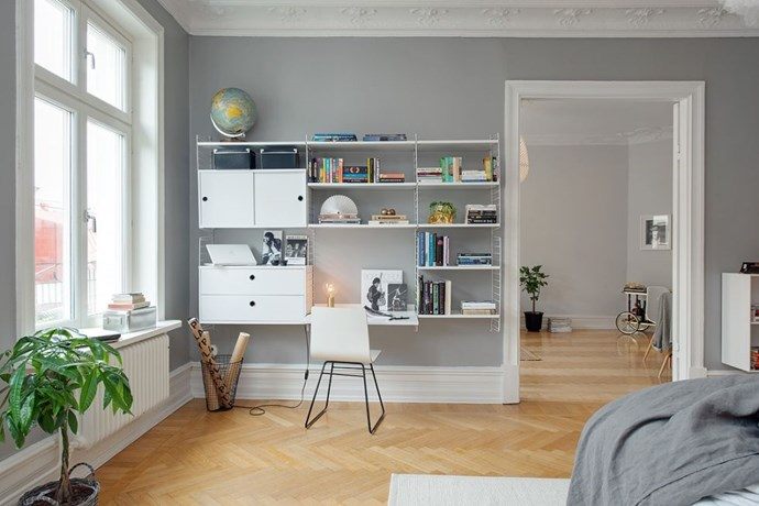 "<strong>GRAY WALLS</strong> <br><br>Scandinavian design usually centers upon a stark, black-and-white aesthetic – which is why we're so excited to see gray walls making a comeback. They provide the same neatra;, monochromatic appeal, but dial it back a few notches. (As seen at <strong><a href=""http://bungalow5.dk/spring-cure-week-2-living-room-and-working-space/"">Bungalow 5</a></strong>) <br><br><strong>Photo credit</strong>: Alvhem"