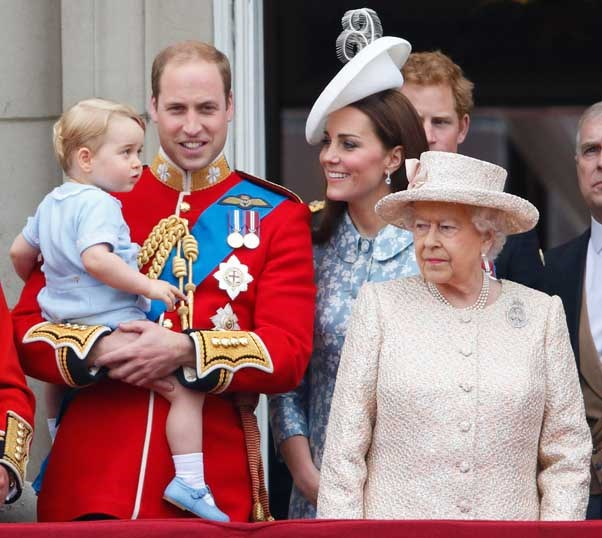Kate, Will and George were all smiles for the Queen's birthday celebrations.