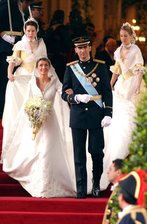 May, 2004: <br><br> Princess Letizia Ortiz of Spain and Crown Prince Felipe of Spain