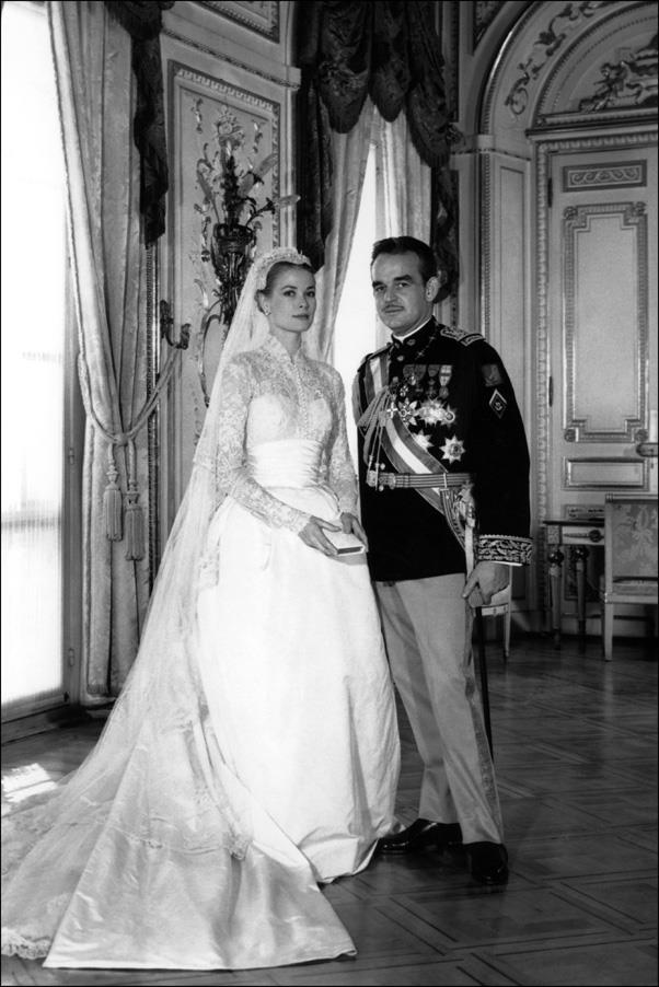 April, 1956: <br><br> Grace Kelly and Prince Rainier of Monaco