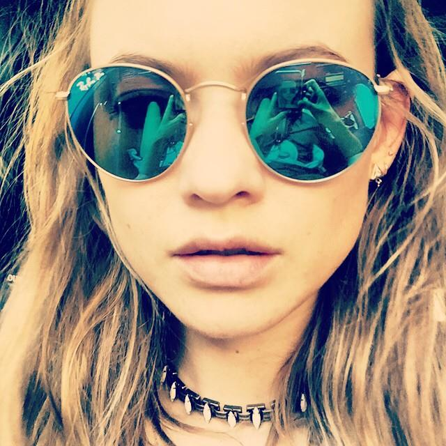 It's hard to beat a classic: Ray Ban's original round, wire-framed shape is a Behati Prinsloo favourite. <em><br><br>Instagram/@behatiprinsloo</em>