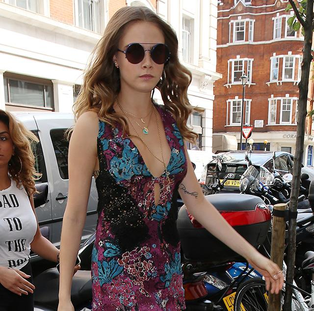 Cara Delevingne channels seventies luxe.